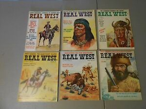 LOT-OF-6-1960S-REAL-WEST-MAGAZINES-COWBOYS-INDIANS-TRAPPING-WESTERN-LIFE-HANGING