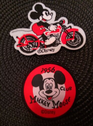 Mickey Mouse Club 1956  /& motorcycle Mickey  Sew on Iron On Patches PATCH LOT