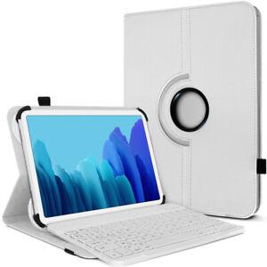 Étui de Protection Blanc avec Clavier Bluetooth pour Tablette Samsung Galaxy Tab