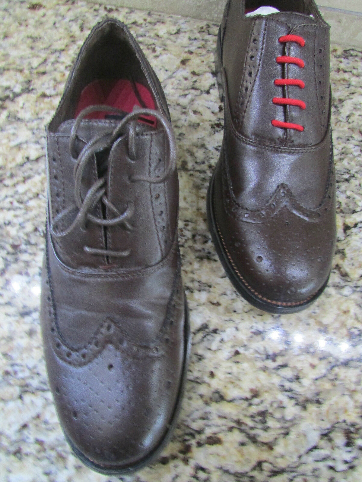 NEW STEVE MADDEN WINGTIP DRESS DRESS WINGTIP SHOES Uomo 9.5 STYLE: HARLOW BROWN FREE SHIP 9602e5