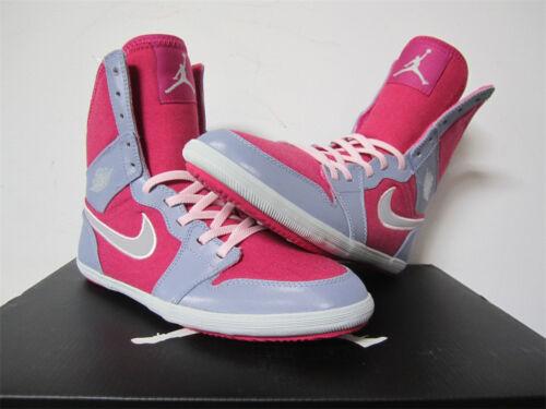 Nike Air Jordan 1 Skinny Hyper Fuchsia Pink Grey GS Grade School 6 602656-608