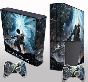 New Style Halo Sticker Decals Cover for Xbox 360 E Console ... Xbox 360 Console Skins