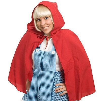 *NEW* Red Riding Hood Hooded Fabric Cape - Dress Ups Halloween