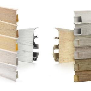 Fussleisten 55-75mm Sockelleisten Bodenleisten Laminatleisten+Montagematerial