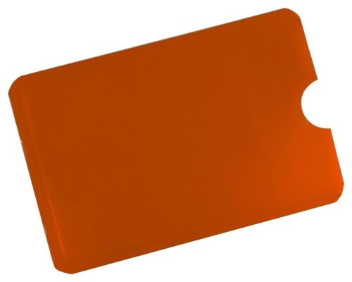 NFC Blocker RFID Schutzhülle Orange Soft EC Kartenhülle Kreditkarten Perso