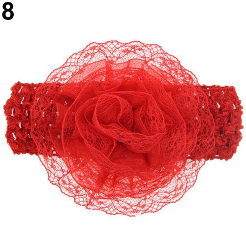 Am /_ Kf /_ Süß Mädchen Baby Kleinkind Blume Stirnband Haarschleife Band