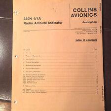 Collins  339H-4/4A  Altimeter Service manual