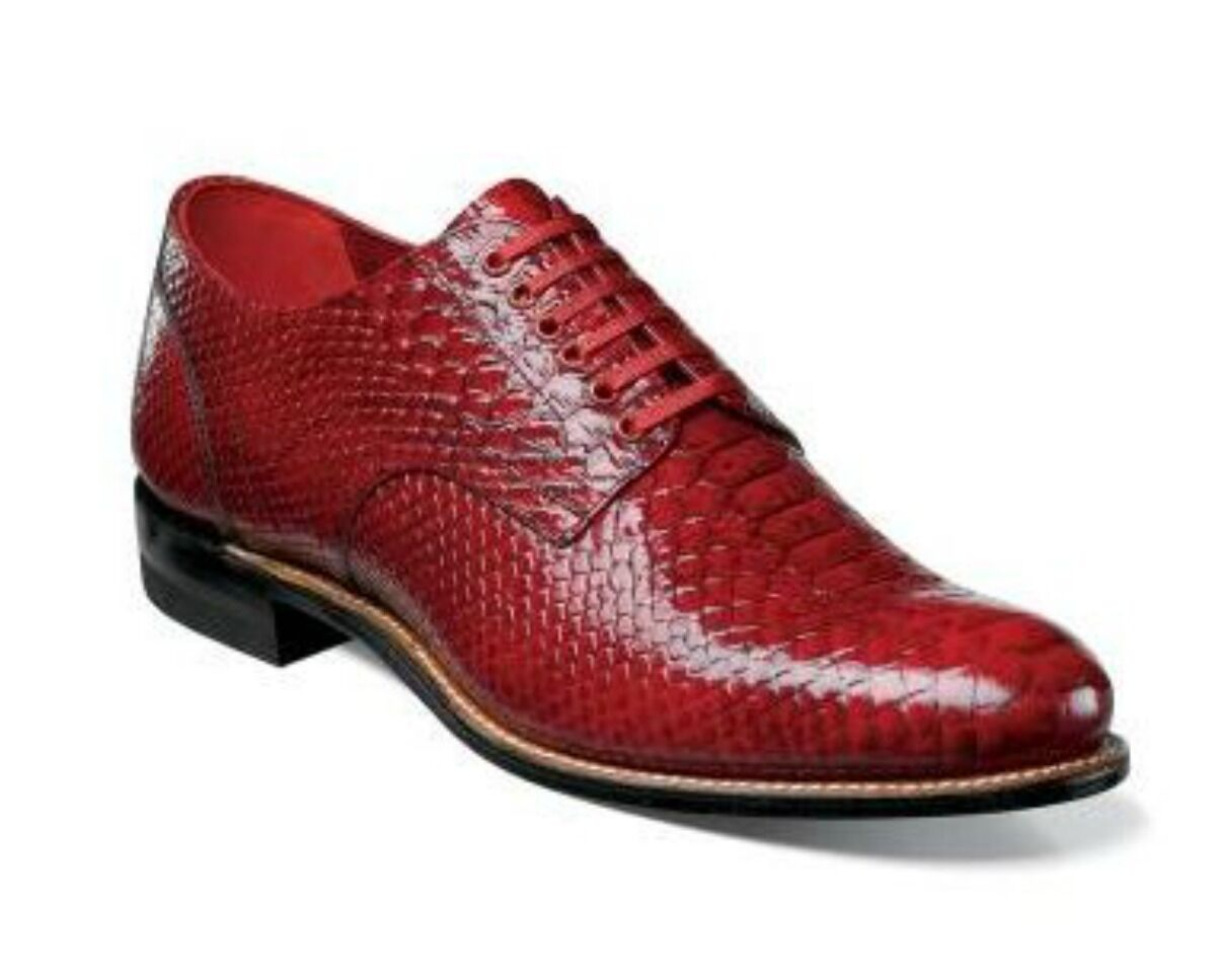 100% autentico New Stacy Adams Uomo Madison Oxford Anaconda Print Print Print rosso Dress scarpe 00055-600  il più alla moda