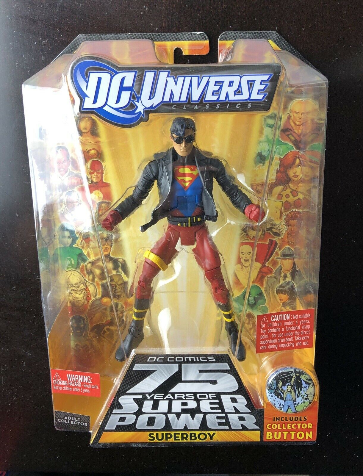 MATTEL DCUC DC UNIVERSE TRIGON SERIES 13 TEEN TITANS SUPERBOY ACTION FIGURE NRFB
