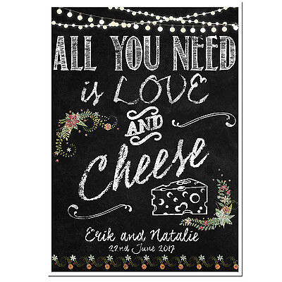 PERSONALISED chalkboard style wedding Snapchat sign poster PRINTABLE ONLY