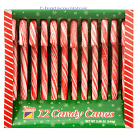12 Or 24ct Box Natural Peppermint Candy Canes Edible Ornaments Christmas Cane