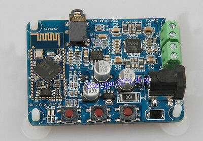 10Wx2 Wireless Stereo Bluetooth 4.0 Amplifier Audio Receiver Board Sound Module
