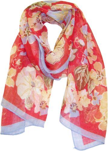 AC0016 ZUZIFY Floral Patterned Chiffon Scarf