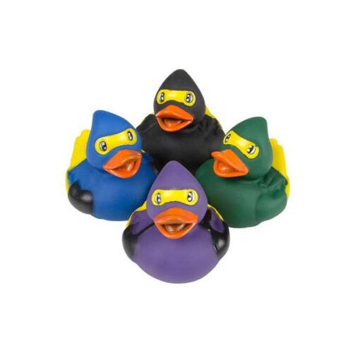 Rhode Island Novelty NINJA DUCKIES - New Set of 4 Styles Rubber Ducks