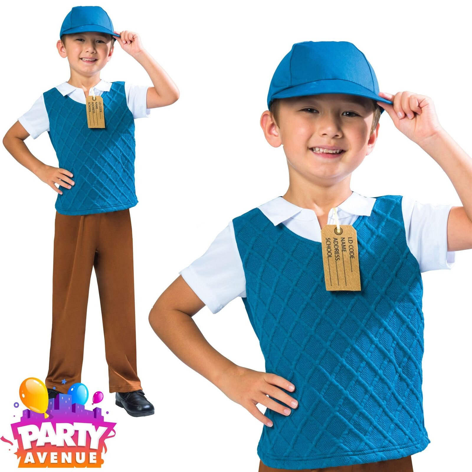1940s Boys School Boy Costume Child Kids Historical Book Day Outfit