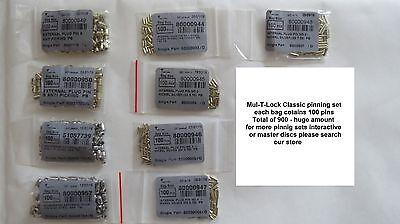 Mul T Lock 7X7 Pinning kit Pins Rekeying  Locksmith Supply lock cylinder MASTER