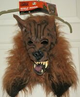Wolf Mask Soft Vinyl Full Adult Mens Womens Brown Werewolf Totally Ghoul