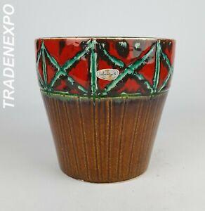 Vintage-1970s-SCHEURICH-KERAMIK-PLANTER-POT-West-German-Pottery-Fat-Lava