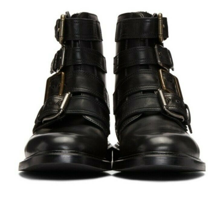 Dolce And Gabbana Michelangelo Buckle Leather Boots Black Size uk 7 eu 41