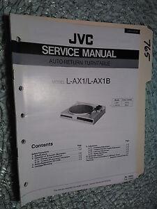 jvc l ax1 b service manual original repair book stereo turntable rh ebay com jvc vcr repair manual jvc l a110 turntable repair manual
