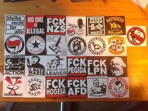 25-Anti-Nazi-Aufkleber-stickers-mix-Antifa-Gegen-Nazis-AFA-Punk-GNWP-ARA-161