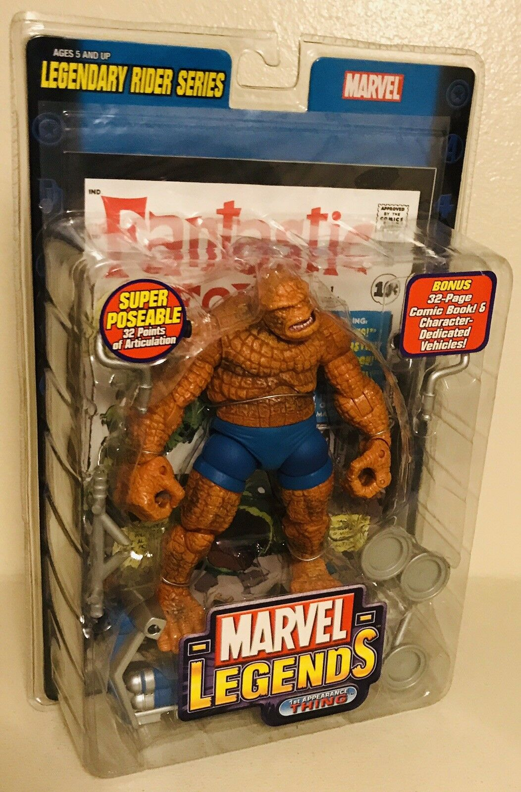 New Marvel Legends Legendary Rider Series 1st Appearance The Thing Toy Biz 32pts