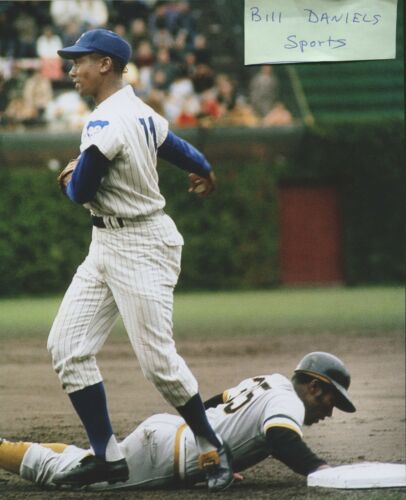 ERNIE BANKS CHICAGO CUBS 512 HOME RUNS HALL OF FAME 1977 8 X 10 PHOTO  2