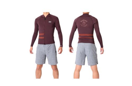 New Men/'s $85 Hurley Advantage Plus Graphic 1mm Zip Jacket Burgundy Size Medium