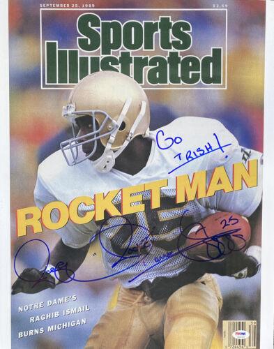 Rocket Ismail Notre Dame Signed 16x20 Sports Illustrated Photo Go Irish PSA//DNA