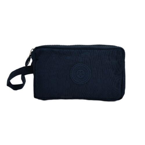 Three-Layer Zipper Mobile Phone Bag Short Wallet Coin Purse Organizer 15*9*5CM