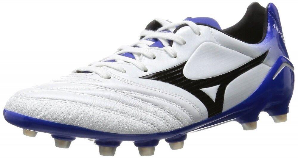 Zapatos de fútbol de Mizuno Spike monarcida JP P1GA1620 Super blancoo Perla × Negro × Azul