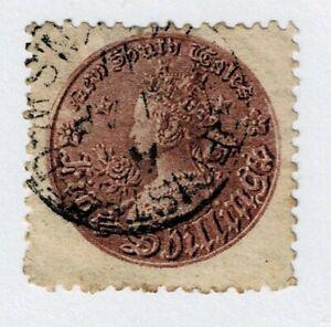 NSW - AUSTRALIA - 1861/80 5sh PURPLE P11 - Sc#414d - GU - E 149