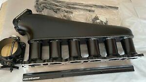 Racetune RB25DET BLACK Billet Intake Manifold Plenum for Skyline RB25 R32 R33 34