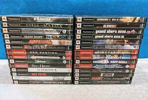 PlayStation-2-PS2-Shooter-Lot-of-28-Games-No-Duplicates-Tested