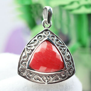 Sterling-Silver-Orange-jasper-gemstone-Pendant-5-45-g-925