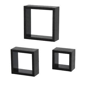Mensole Color Wenge.Detalles De Set 3 Cubi Mensole Legno Marrone Scuro Simile Wenge Mensola Design Modello 3cma