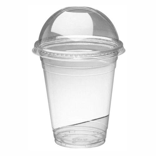 smoothie milkshake Bonbons Cups /& couvercles en plastique transparent dôme couvercle 550 ml environ 566.98 g 50 x 20 oz