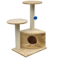 "Cat Tree 28"" Beige Plush Tower Condo Scratcher Pet Furniture Kitten House Gym"
