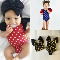 Newborn Toddler Infant Baby Girls Jumpsuit Bodysuit Romper Clothes Outfits 0-24M