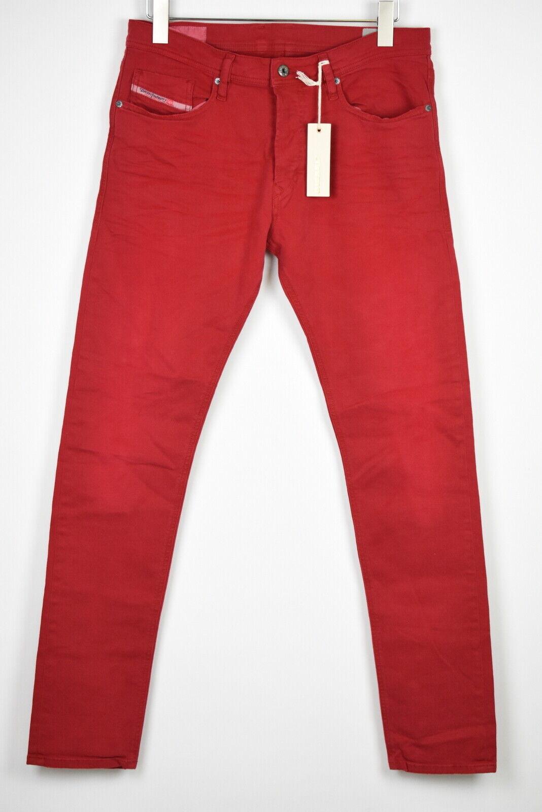 UVP 160 Diesel Tepphar 0111D Herren W31 Enganliegend Farbig Raw Jeans 14558