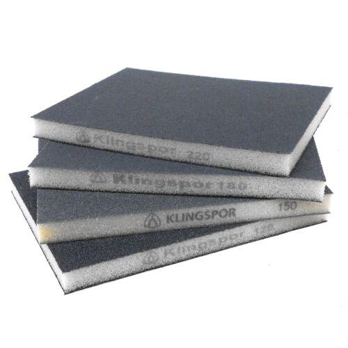 10-100 x Klingspor Sanding Sponge sw502 SIC123 x 98 x 10 mmGrain Selectable