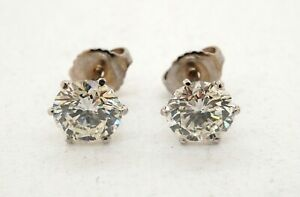 EGL-USA-Certified-14k-White-Gold-2-02ct-Diamond-Stud-Earrings-18-540-Retail