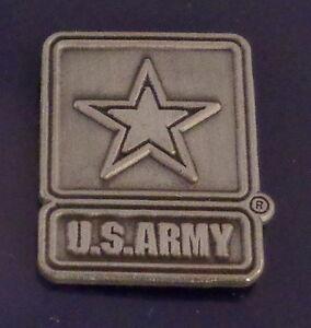 United States Army Logo Pewter Lapel Pin US USA