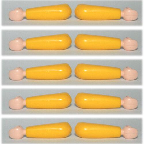 10 pcs Playmobil Yellow Arms