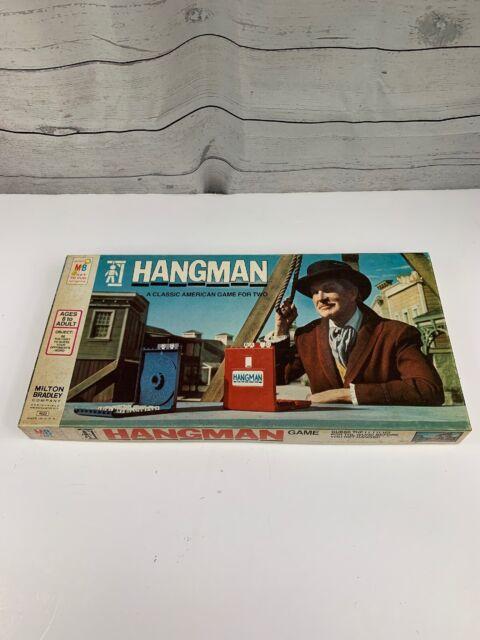 Vintage Milton Bradley Hangman 1976 Board Game Educational Vincent Price