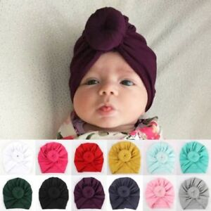 Hot-New-Toddler-Kids-Baby-Boy-Girl-Indian-Turban-Knot-Cotton-Beanie-Hat-Cap