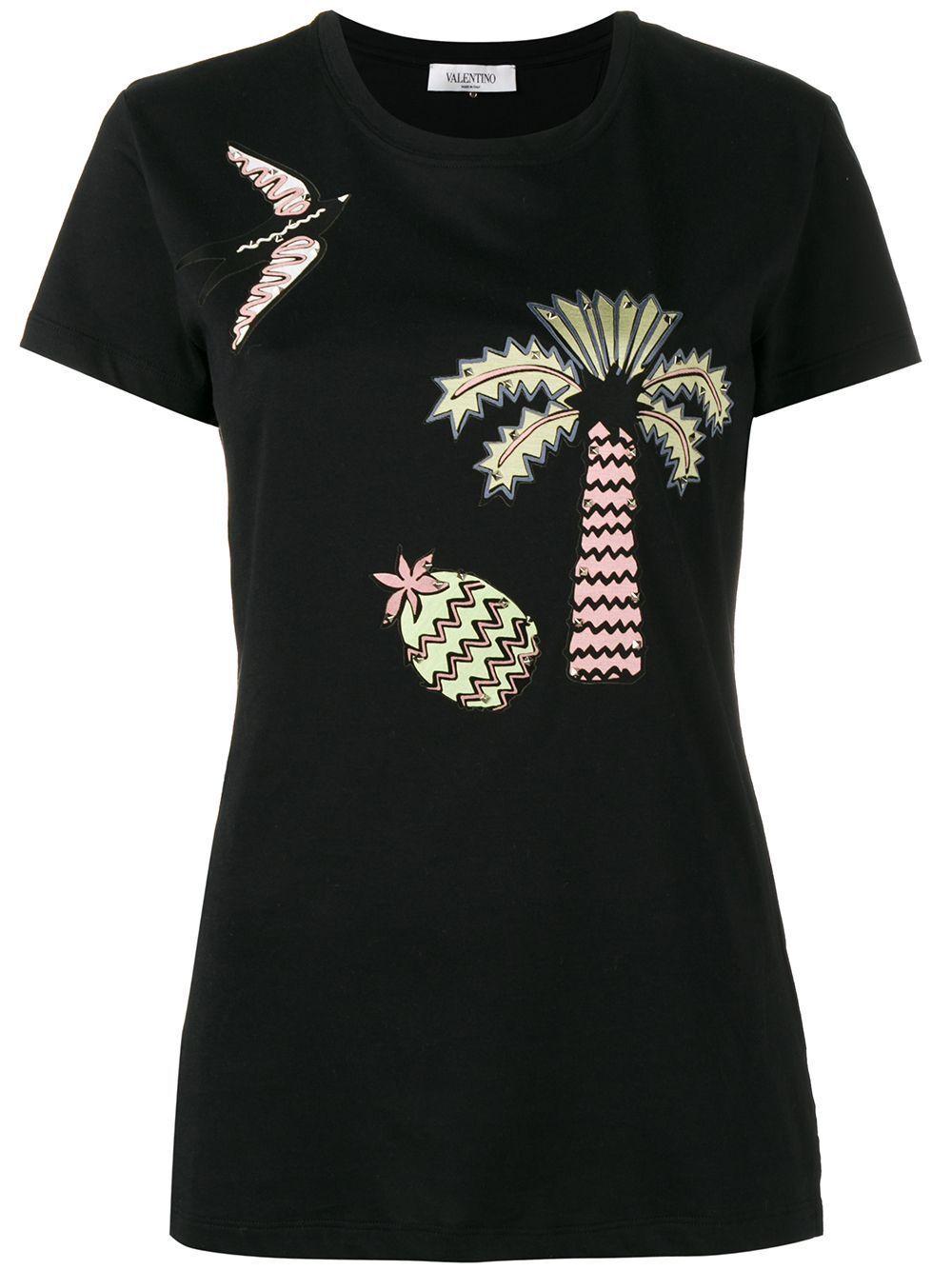 Nuevo Con Etiquetas  890 Valentino tropical sueño apliques  Camiseta Tamaño S  precio mas barato