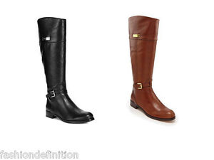 43390baf31b New Coach Women MICHA Calf Leather Riding Boots Shoes Black Chestnut ...