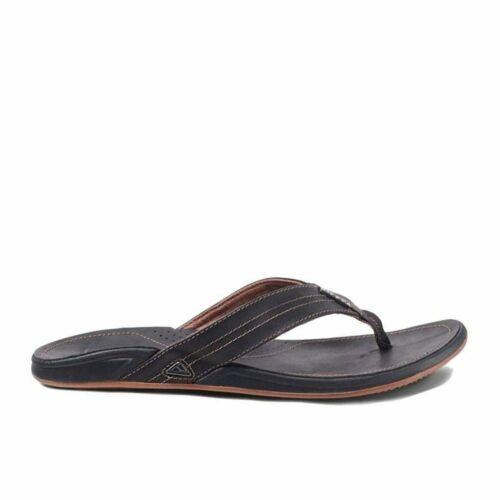 Reef J Bay III Noche Men/'s Leather Flip Flop Sandals RF002616