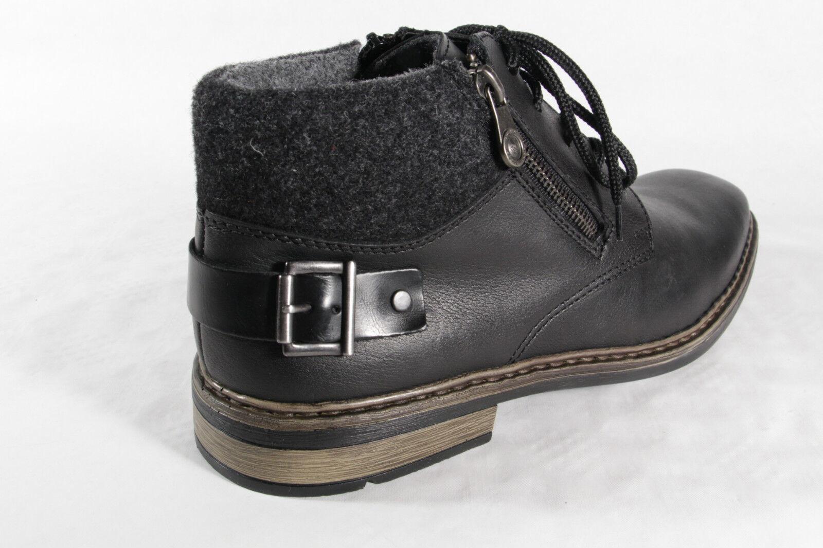 Rieker Botas De Hombre F1230 F1230 F1230 Botines botas de invierno, negro, piel NUEVO 718485